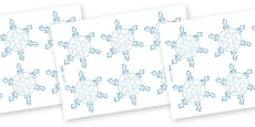 Snowflakes (Small) Editable