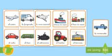 Tarjetas de clasificar: El transporte