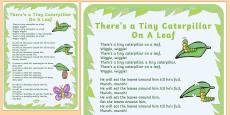 Tiny Caterpillar Rhyme Poster