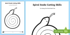 * NEW * Spiral Snake Cutting Skills Activity Sheet