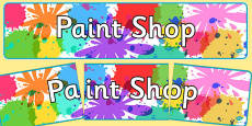 Paint Shop Role Play Display Banner