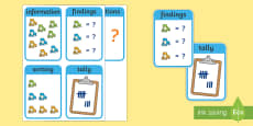 CfE Early Level Numeracy and Mathematics Data and Analysis Keyword Flashcards