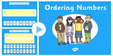 Ordering Numbers 0-10 and 0-20 PowerPoint
