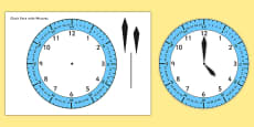 Clock Face with Minutes