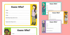 Transition Guess Who Activity