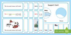 Winter Simple Sentence Cards