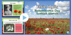 Remembrance Day Scottish Women Elsie Inglis PowerPoint