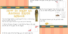Australia - Ancient Egypt Lapbook Instructions Sheet