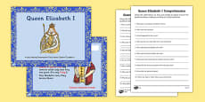 Queen Elizabeth I Differentiated Lesson Teaching Pack