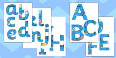 Art Equipment Blue Display Lettering