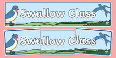 Swallow Class Display Banner