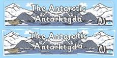 The Antarctic Display Banner Polish Translation