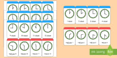 Time Cards to Support Teaching on What's the Time, Mr Wolf?