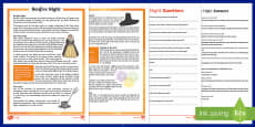 KS2 Bonfire Night Differentiated Reading Comprehension Activity