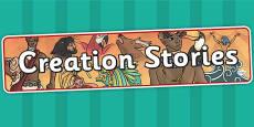 Creation Stories Display Banner