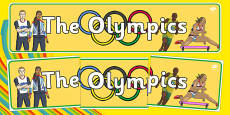 The Olympics Display Banner