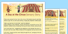 A Day at the Circus Sensory Story
