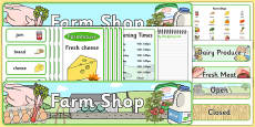 Farm Shop Role Play Pack