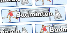 The Olympics Badminton Display Banner