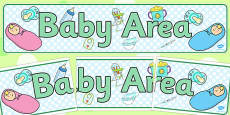 Baby Area Display Banner