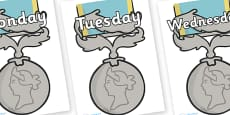 Days of the Week on Medals