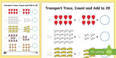 Transport Trace Count and Add to 20 Activity Sheet