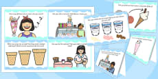 Ice Cream Parlour Role Play Challenge Cards