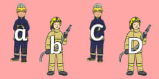 A to Z Alphabet on Firefighters