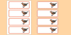 Chaffinch Editable Drawer Peg Name Labels