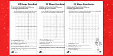 Elf Shape Coordinates Differentiated Activity Sheets