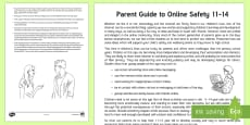 E-safety Advice for Parents of Children Aged 11-14 Parent and Carer Information Sheet