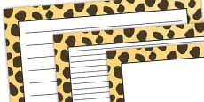 Cheetah Pattern Landscape Page Border