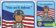 The USA Army Display Poster