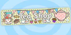Tea Shop Role Play Banner