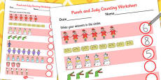 Punch and Judy Counting Sheet