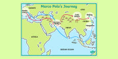 Marco Polo's Journey Display Poster
