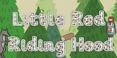 Little Red Riding Hood Title of the Book Display Lettering