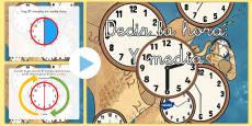 Presentación: Decir la hora - Y media