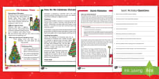KS1 Christmas Differentiated Reading Comprehension Activity Pack