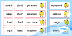 PlanIt English Additional Resources Year 2 Term 3A Spelling Word Cards