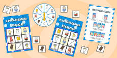 ch Sound Bingo Game with Spinner