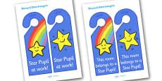 Star Pupil Reward Door Hangers