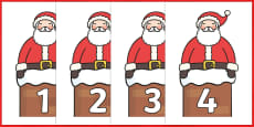 Numbers 0-50 on Santa
