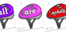 Tricky Words on Bike Helmets (Multicolour)
