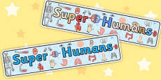Super Humans Display Banner