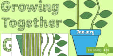 Growing Together Plant Themed Birthday Display Pack