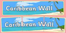 Caribbean Wall Display Banner