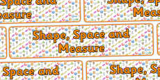 Shape Space and Measure Display Banner