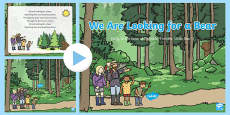 We Are Looking for a Bear Song PowerPoint to Support Teaching on Bear Hunt