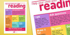 Help Your Child With Reading Poster For Parents